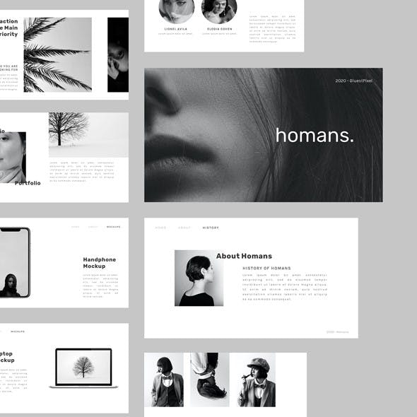 Homans - Clean Business and Creative Google Slides Template