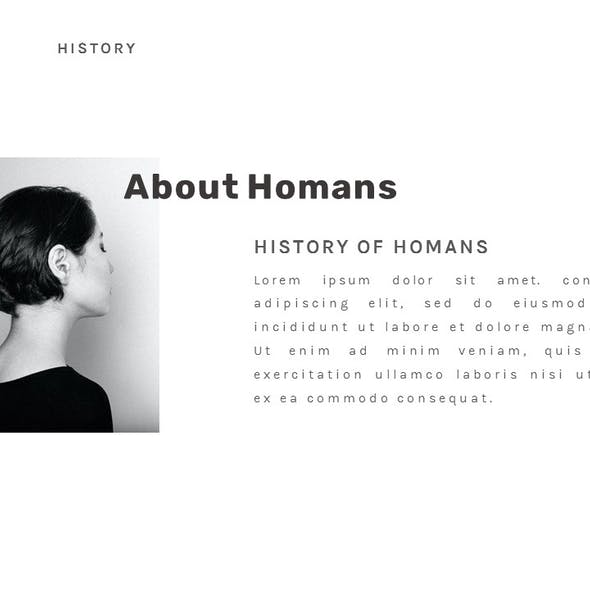 Homans - Clean Business and Creative PowerPoint Template
