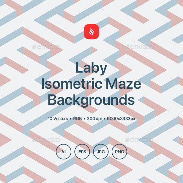 Laby - Isometric Maze Backgrounds
