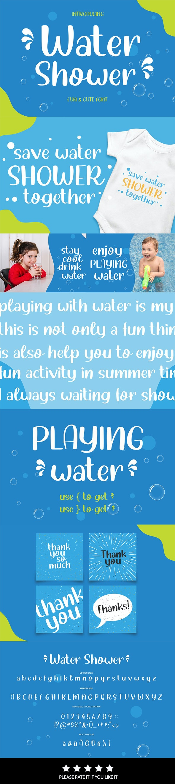 Water Shower - Playful Handwriting Font - Handwriting Fonts