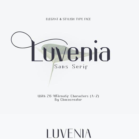Luvenia Sans Serif font
