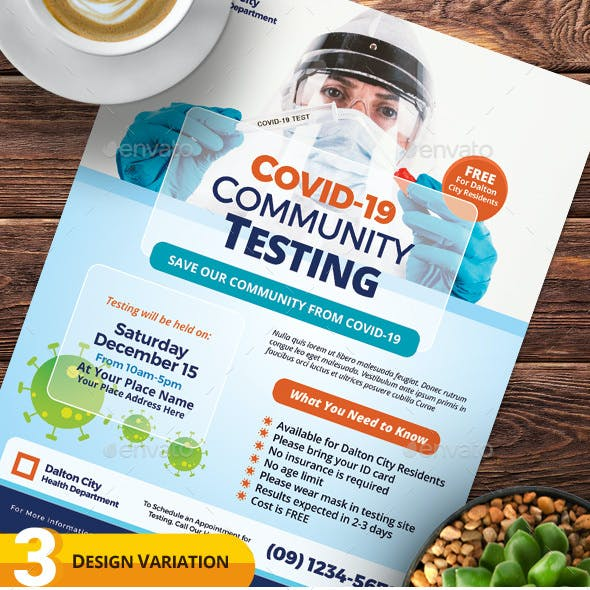 Covid-19 Testing Flyer Templates