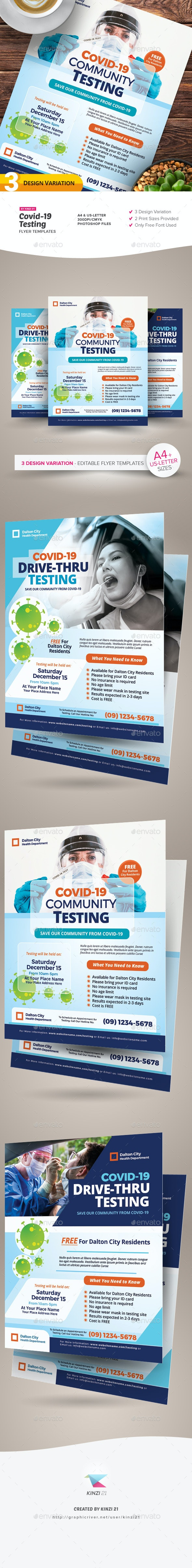 Covid-19 Testing Flyer Templates - Corporate Flyers