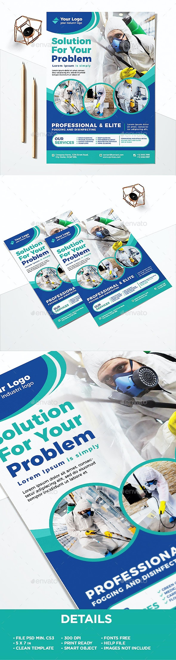 Professional Disinfecting and Cleaning Services Flyer - Corporate Flyers
