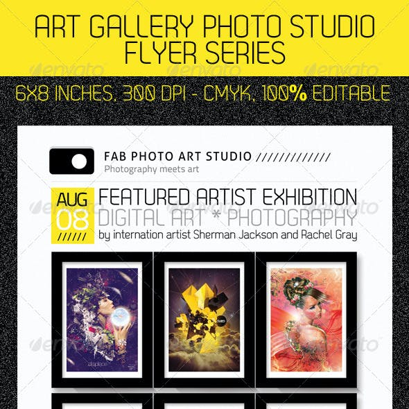 Art Photo Studio Flyer PSD Template