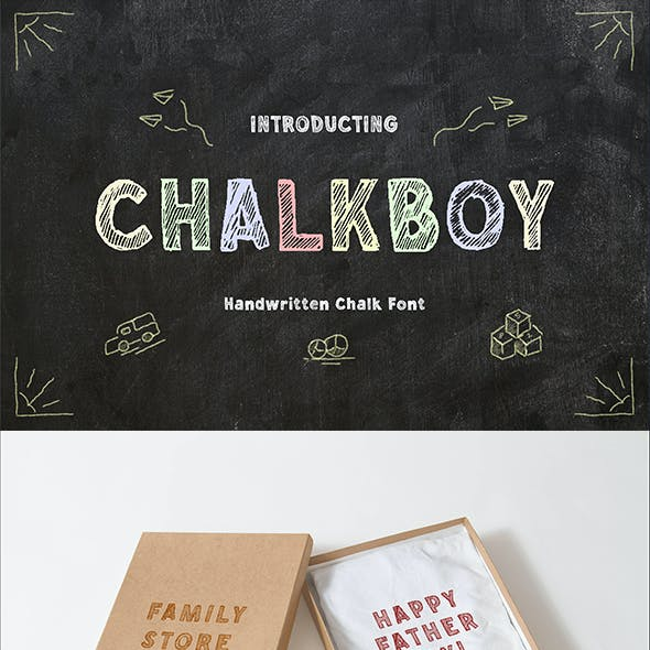 Chalkboy – Handwritten Chalk Font
