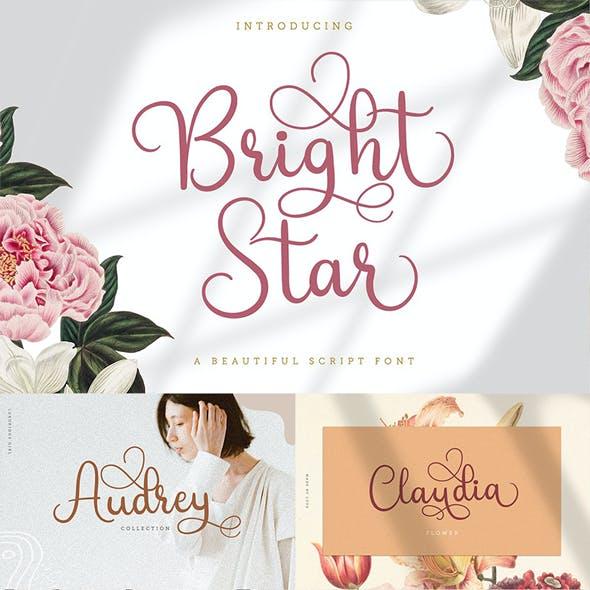 Bright Star - Sweet Script Font