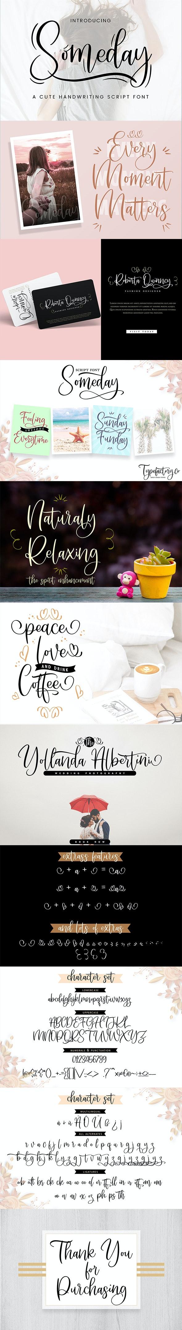 Someday – Handwriting Script Font - Handwriting Fonts