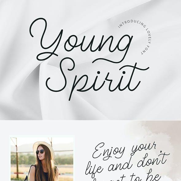 Young Spirit - Handwriting Script Font