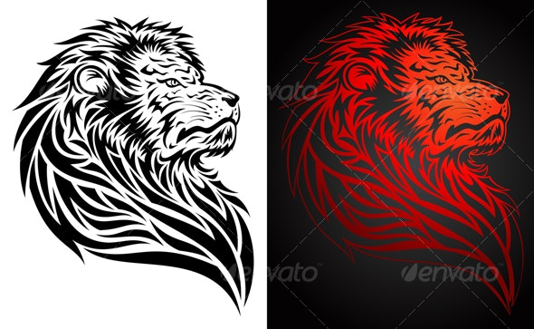 Lion Tattoo - Tattoos Vectors