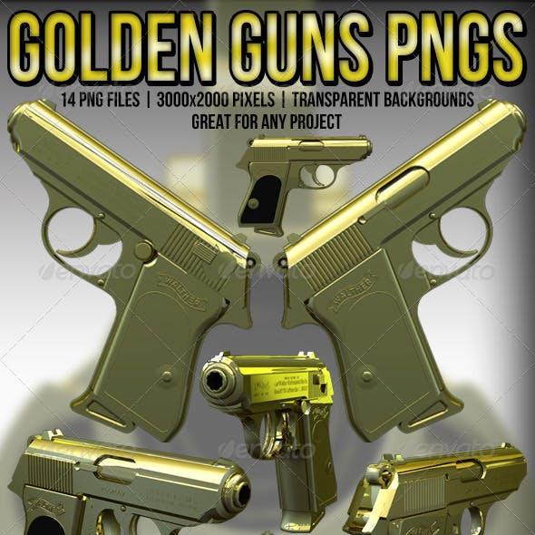 Gold Hand Guns