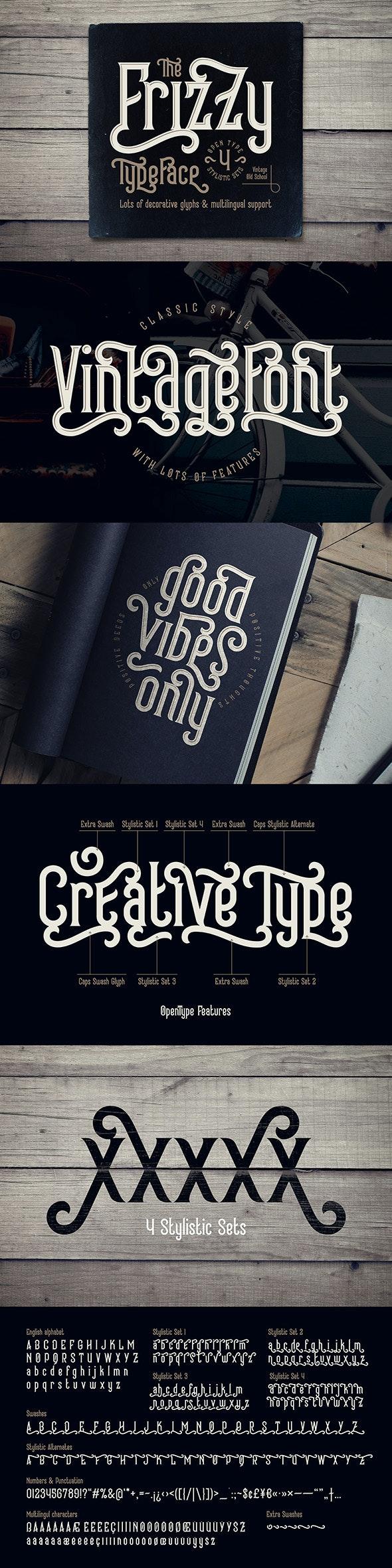 Frizzy vintage font - Serif Fonts