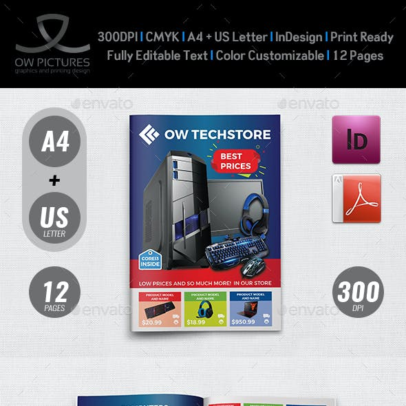 Computers and Electronics Products Catalog Brochure Template - 12 Pages