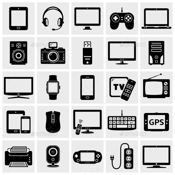 Modern Digital Devices Icons - Miscellaneous Vectors