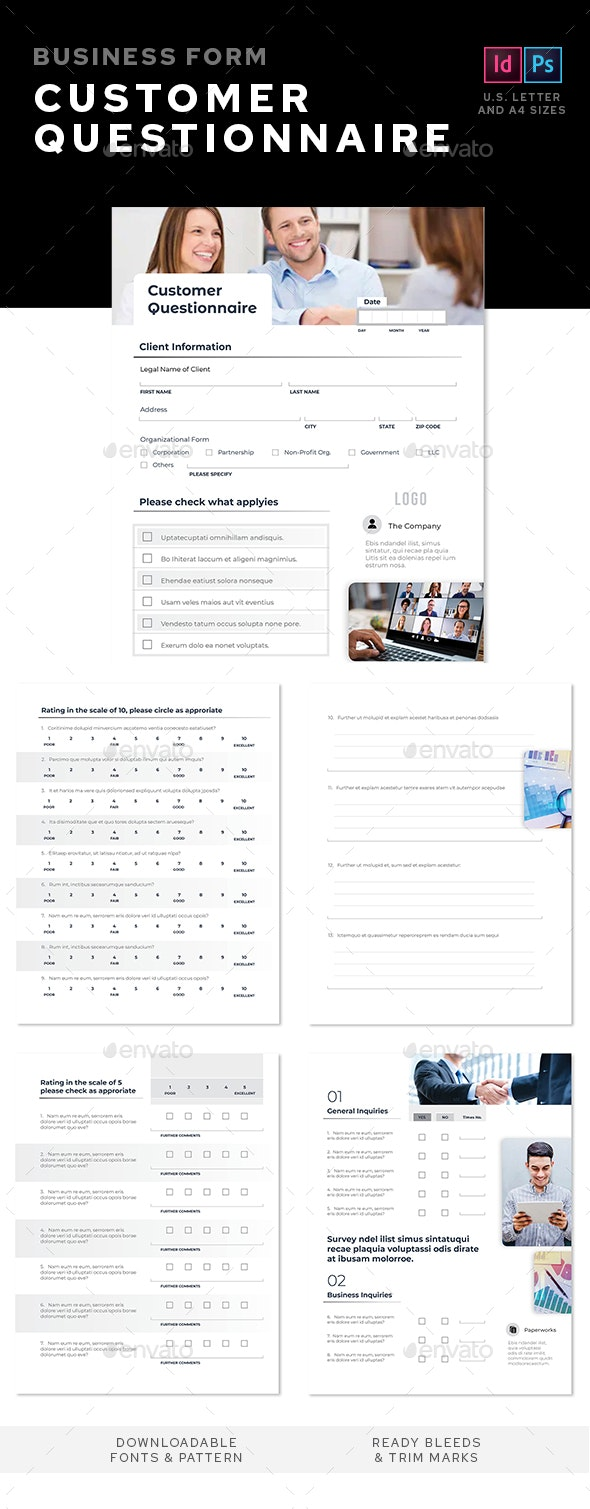 Customers Questionnaire - Miscellaneous Print Templates