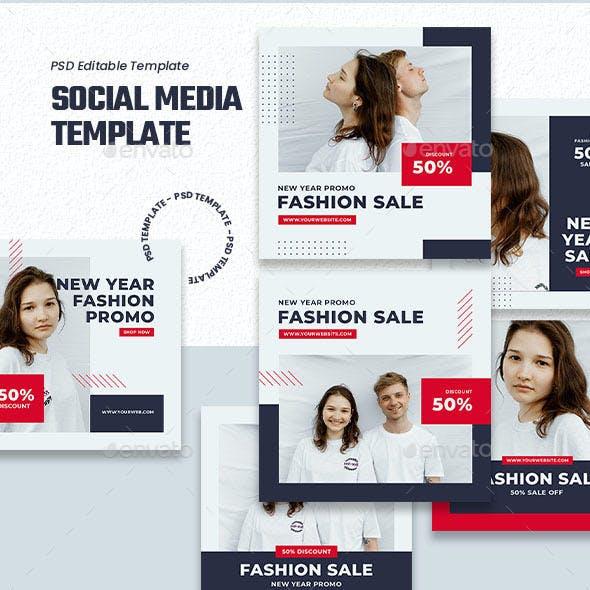 Clean Fashion Sale - Social Media Template
