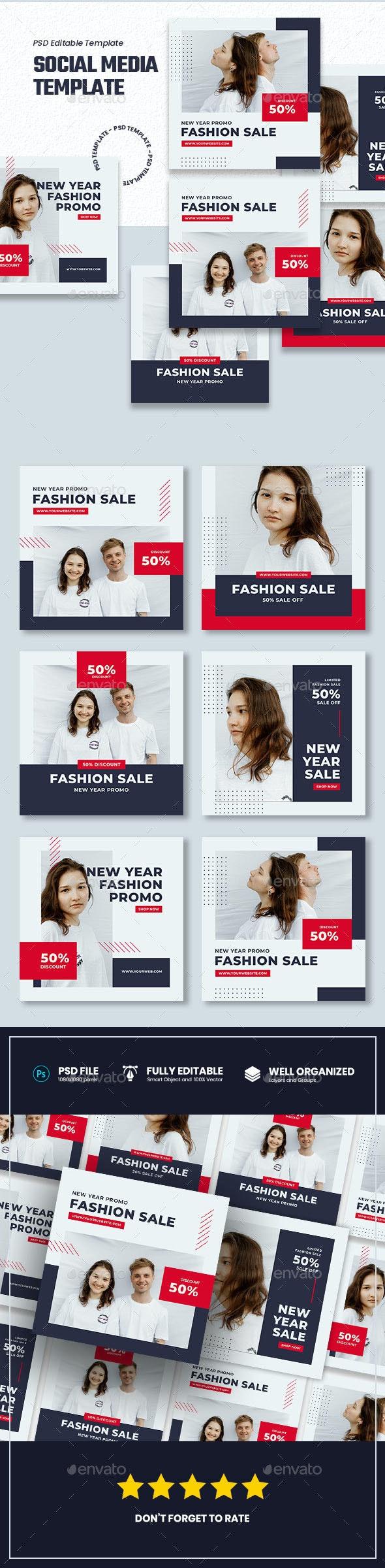Clean Fashion Sale - Social Media Template - Miscellaneous Graphics