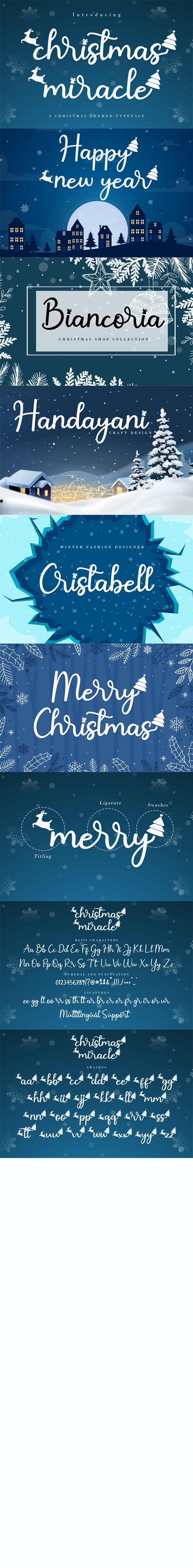 Christmas Miracle - Decorative Fonts
