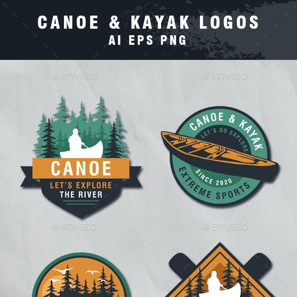 6 Set of Vintage Canoe Labels and Badges