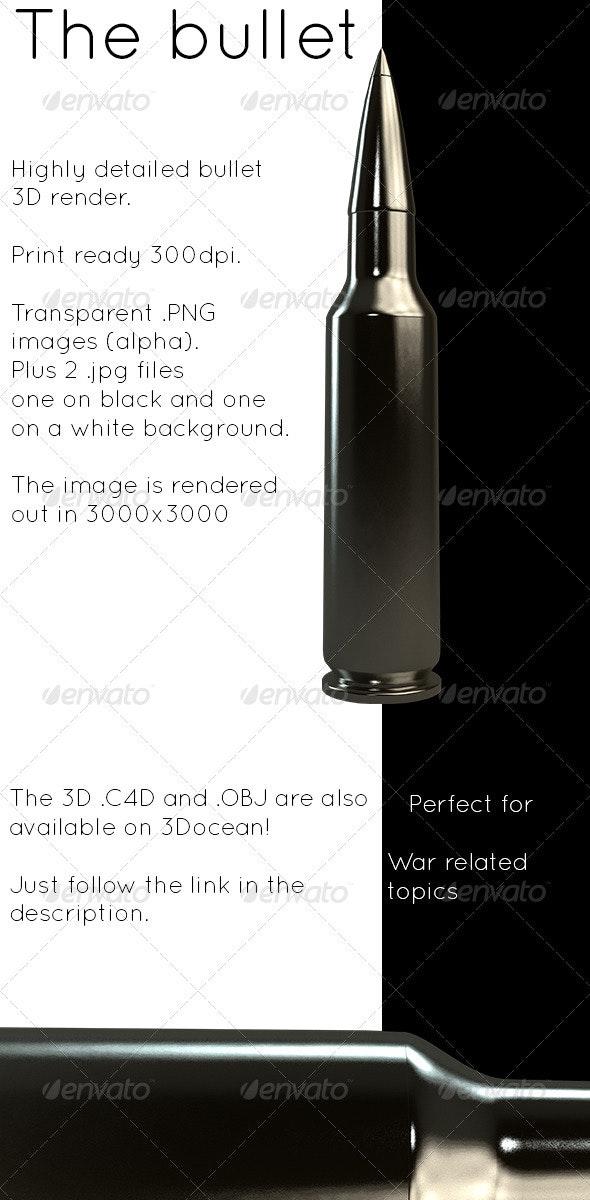Bullet - Objects 3D Renders