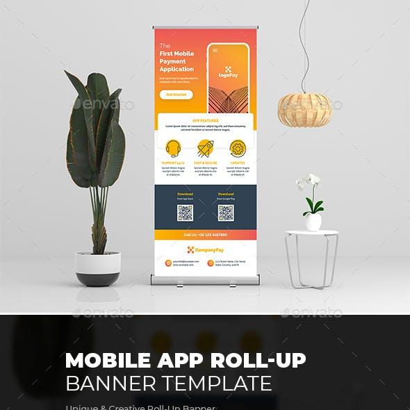 Mobile App Roll-Up Banner