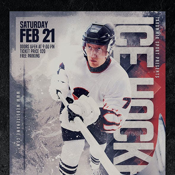 Ice Hockey Flyer