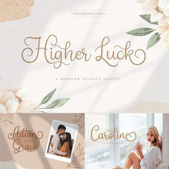 Higher Luck - Beauty Script Font