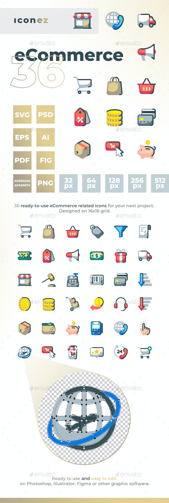 Iconez - eCommerce - Objects Icons