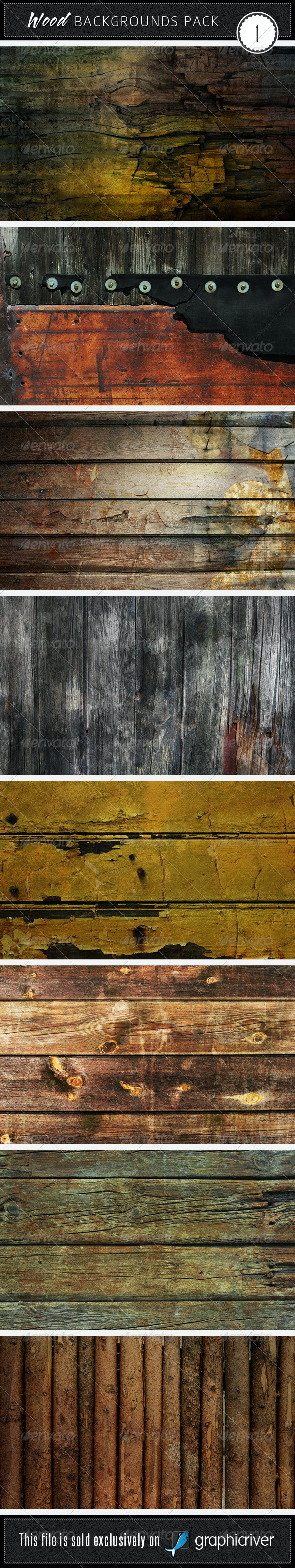 Wood Backgrounds Pack 1 - Wood Textures