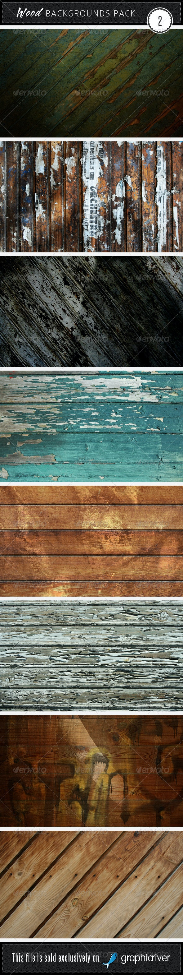 Wood Backgrounds Pack 2 - Wood Textures