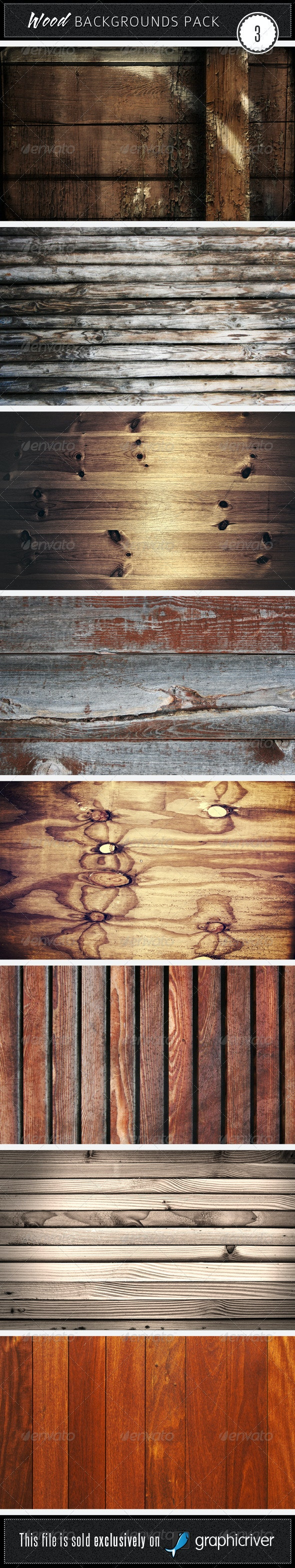 Wood Backgrounds Pack 3 - Wood Textures