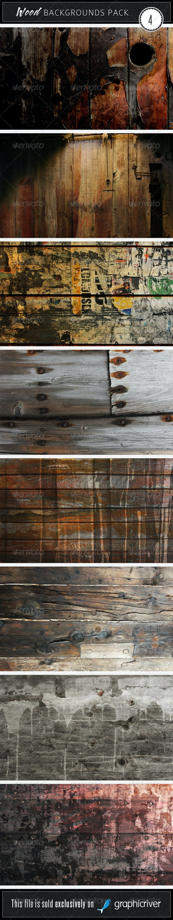 Wood Backgrounds Pack 4 - Wood Textures