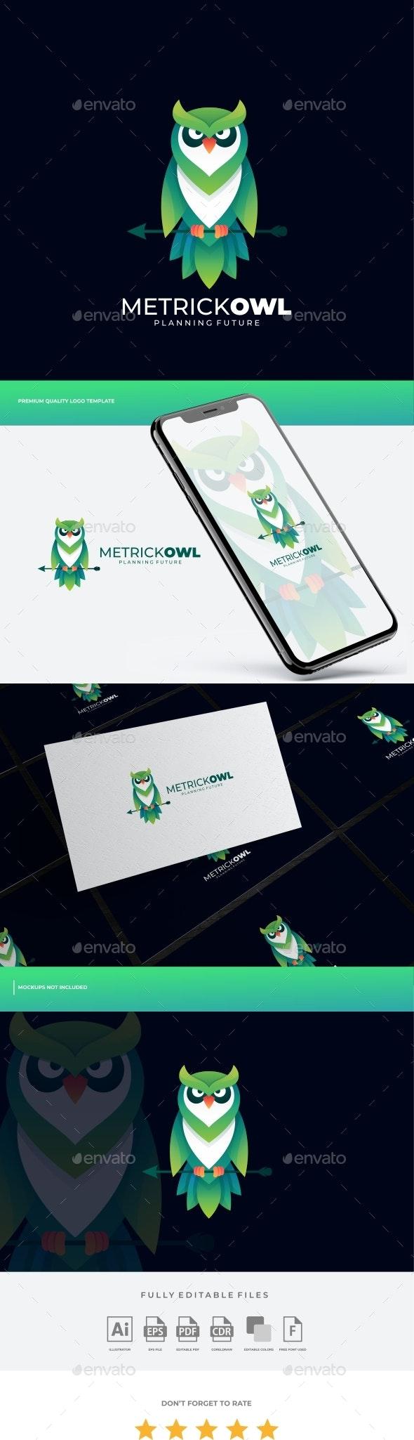 Owl Gradient Logo Template - Animals Logo Templates