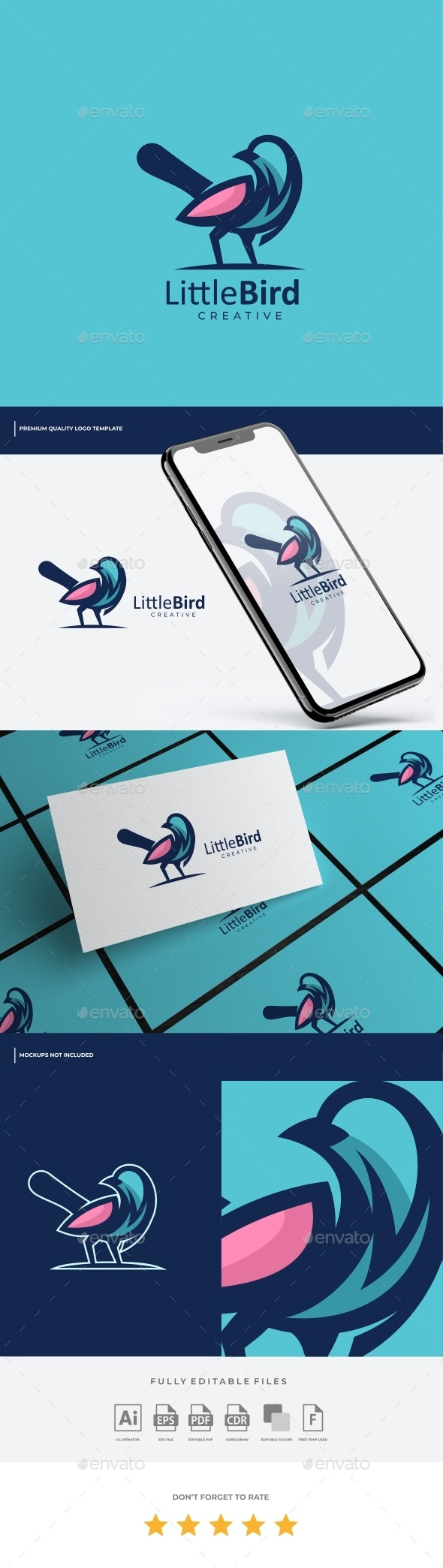 Bird Simple Mascot Logo Template - Animals Logo Templates