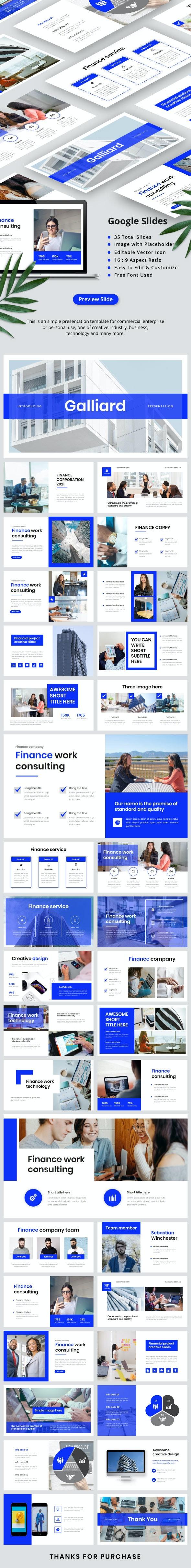 Galliard Finance - Google Slides - Google Slides Presentation Templates