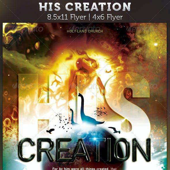 His Creation: Church Flyer template