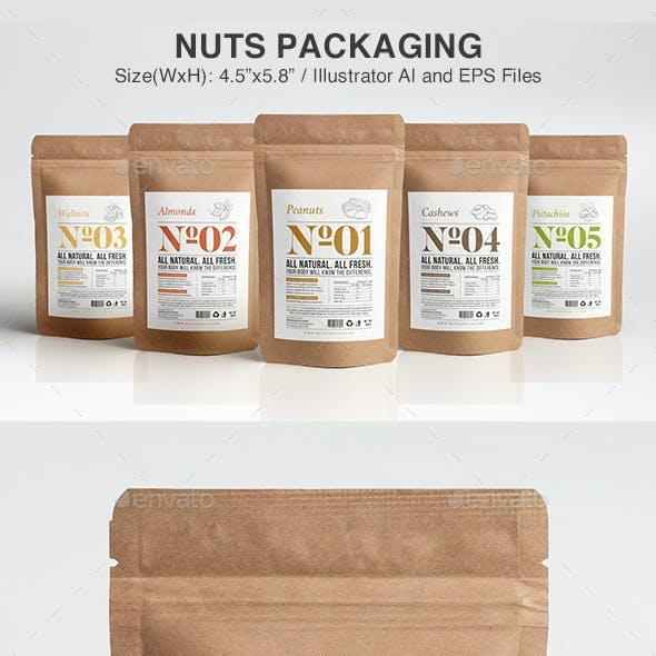 Nuts Packaging Template