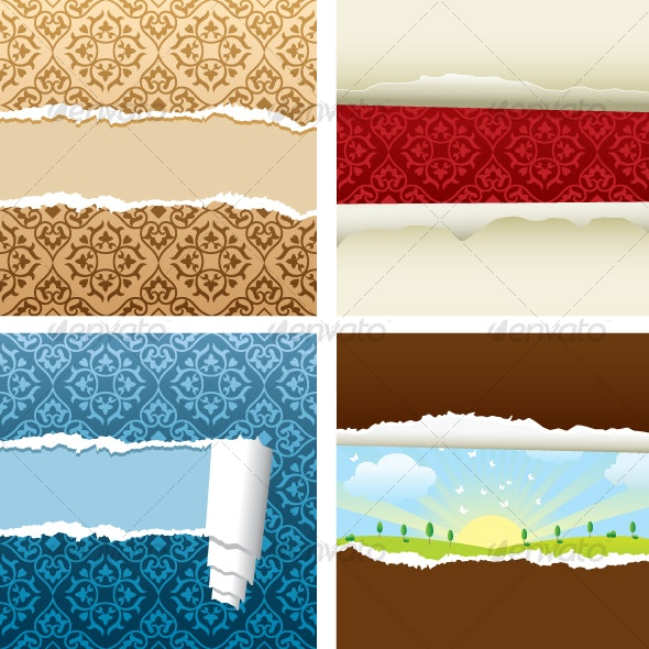 Vector Ripped wallpaper - Backgrounds Decorative