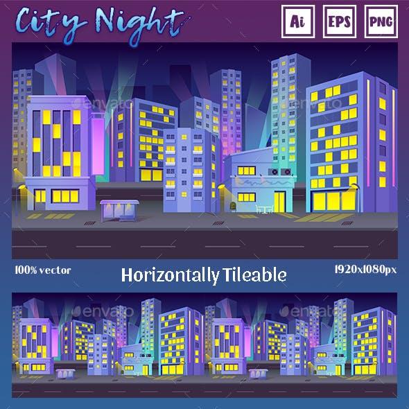 Game Background City Night