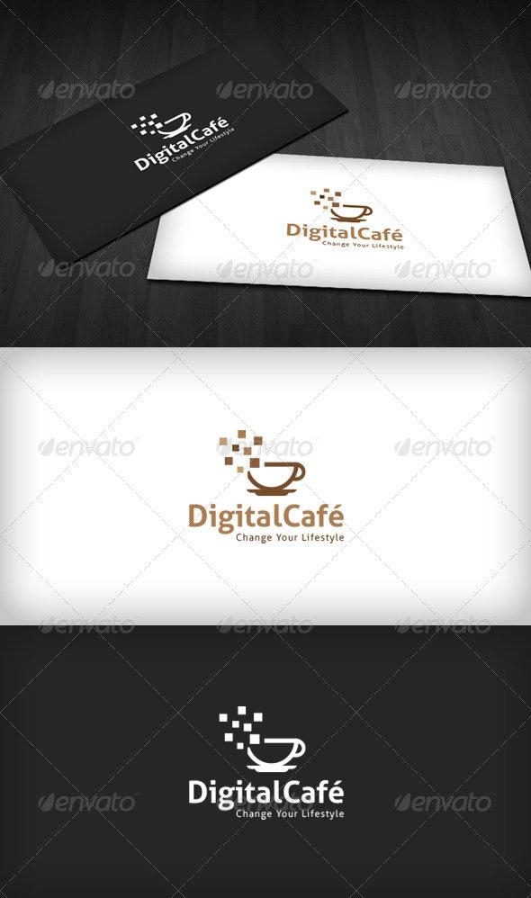 Digital Café Logo - Food Logo Templates