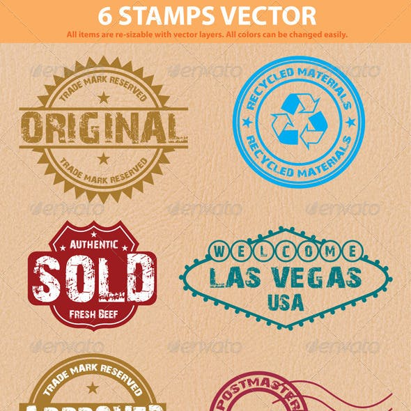 6 Stamps Vector