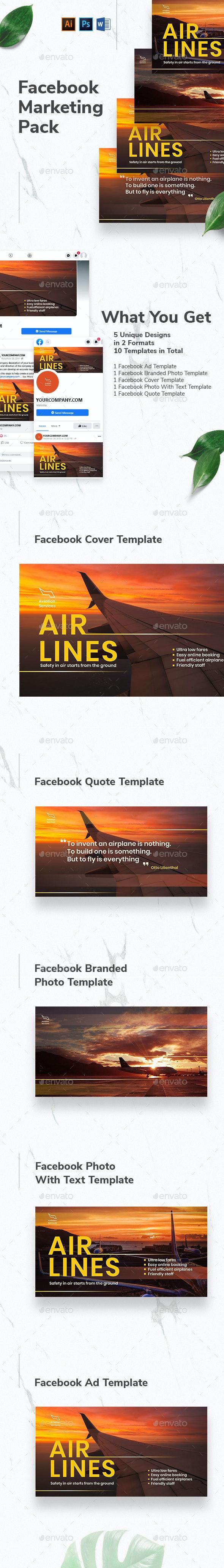 Aviation Airlines Facebook Marketing Materials - Facebook Timeline Covers Social Media