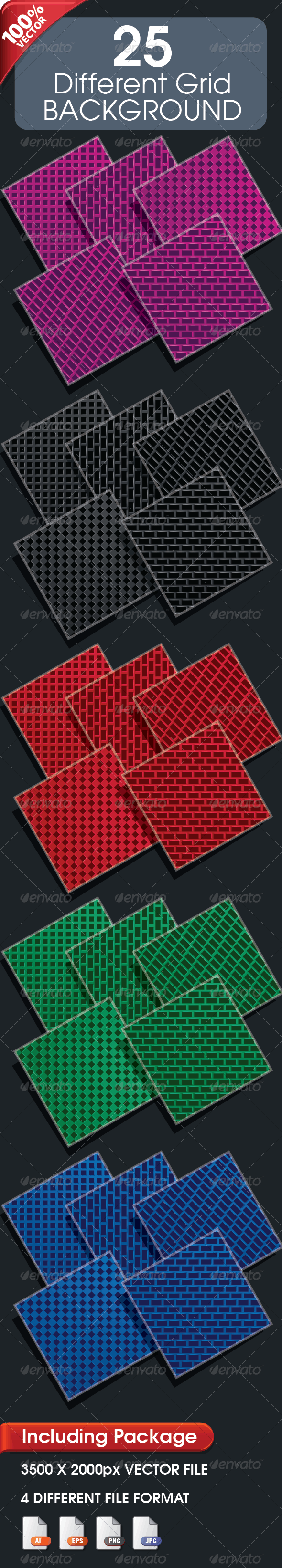 25 Different Grid Background - Backgrounds Decorative