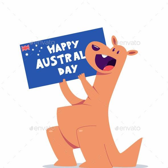 Happy Australia Day Vector Concept Illustration