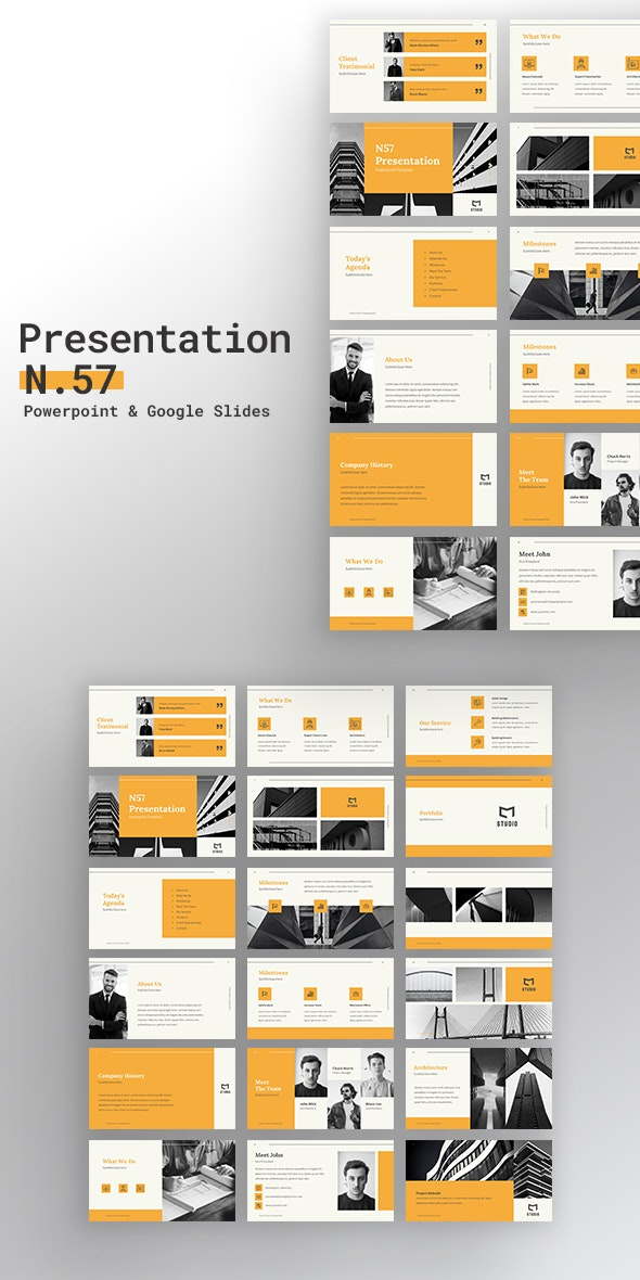 Presentation N57 - Creative PowerPoint Templates