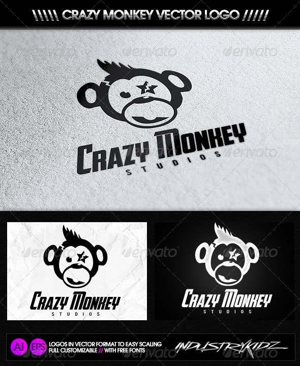 Crazy Monkey Studios Logo - Symbols Logo Templates