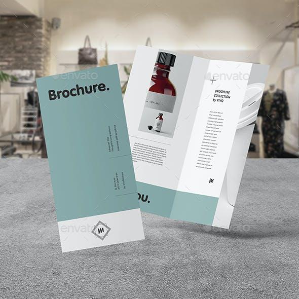 Bi-Fold DL Brochure Mock-up