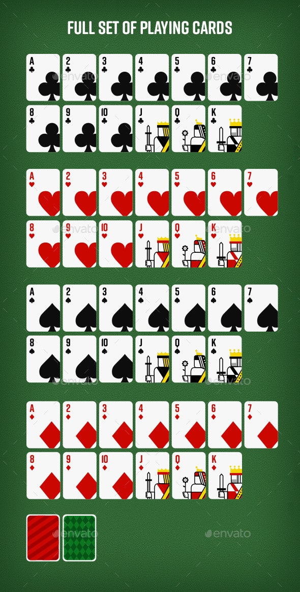 Set of 52 Playing Cards for Online and Mobile Gaming - Miscellaneous Game Assets