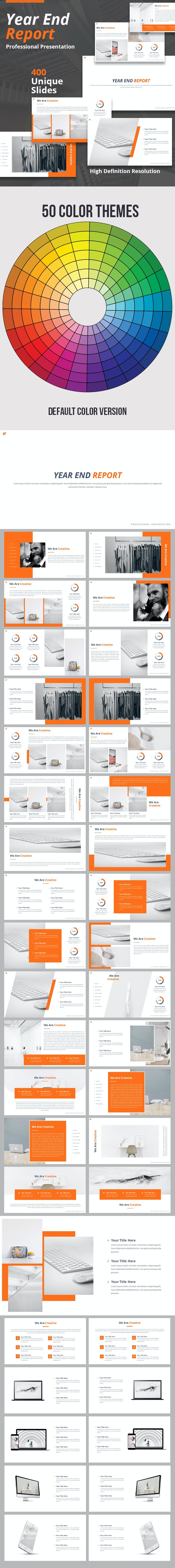 Year End Report Powerpoint Presentation Template By Loveishkalsi Graphicriver