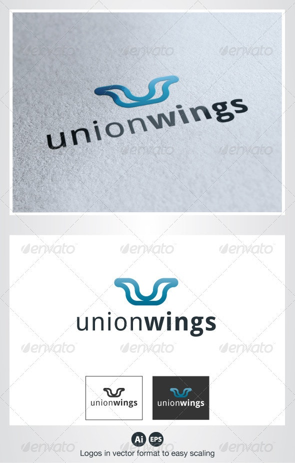 Union Wings Logo - Symbols Logo Templates